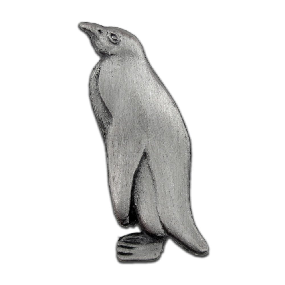PinMart's Penguin Zoo Animal Lapel Pin - Antique Silver