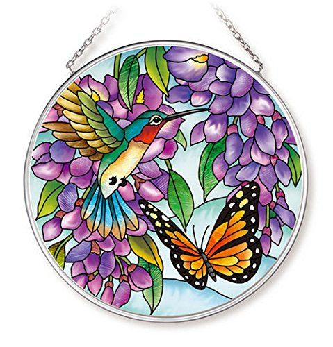 Amia Wisteria Glass Circle Suncatcher Multicolor