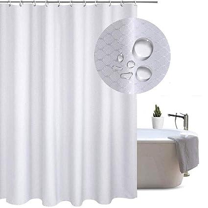 Upside Down Waterproof Bathroom Polyester Shower Curtain Liner Water Resistant
