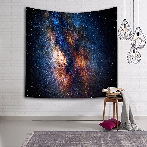 QEES Galaxy Tapestry Star Universe Milky Way Outer Space Polyester Fabric Wall Hanging Decorations Bohemian Tapestry for Bedroom Living Room(GT08-23)