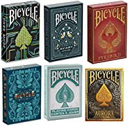 New Bicycle Playing Cards 6 Deck Collector's Bundle - Bicycle Dark Mode   Bicycle Aviary   Bicycle Fyrebir