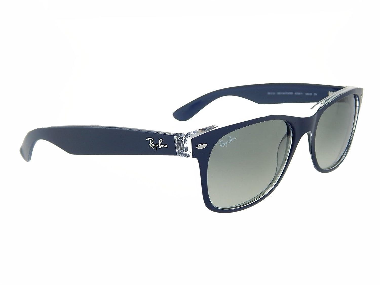 c622e0cc7d Amazon.com  New Ray Ban RB2132 605371 Blue+ Clear Top Grey Gradient 52mm  Sunglasses  Shoes