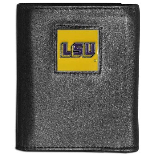 Tigers Tri Fold Leather - NCAA LSU Tigers Leather Tri-Fold Wallet