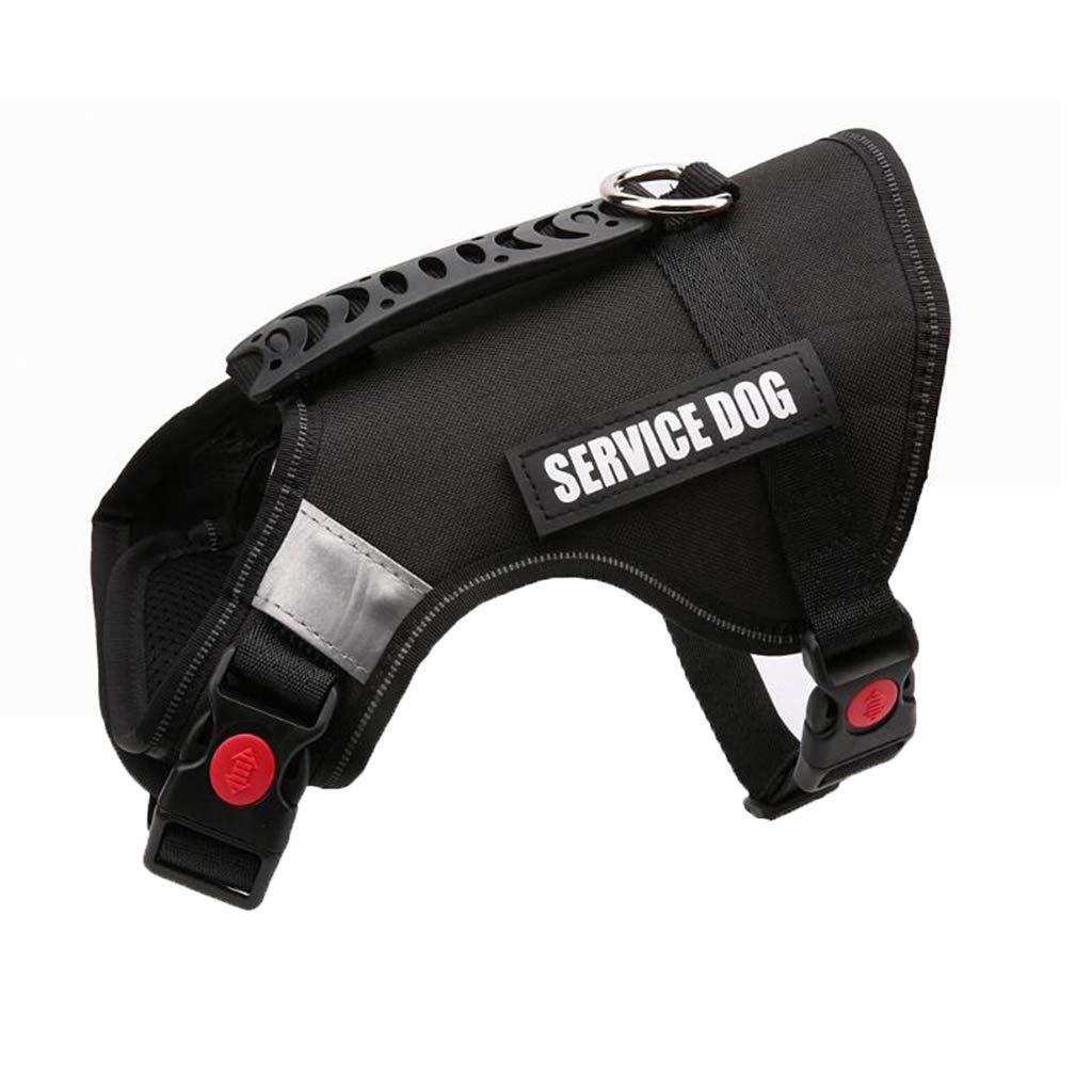Black LGWM Leashes Pet Harness, Chest Belt, Vest, Medium Dog, Large Dog, Explosion Proof,Refletive, Dog Harness (color   orange, Size   S)