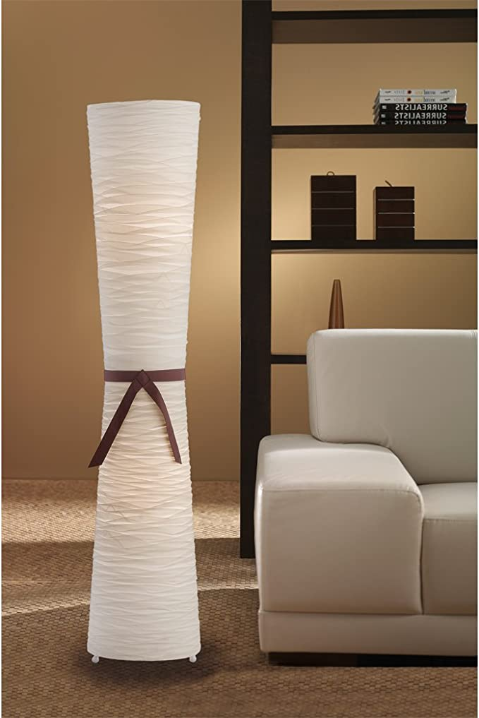 Trio 4080021-00 - Lámpara de pie con mampara de tela (con interruptor de pie), color crema: Amazon.es: Iluminación
