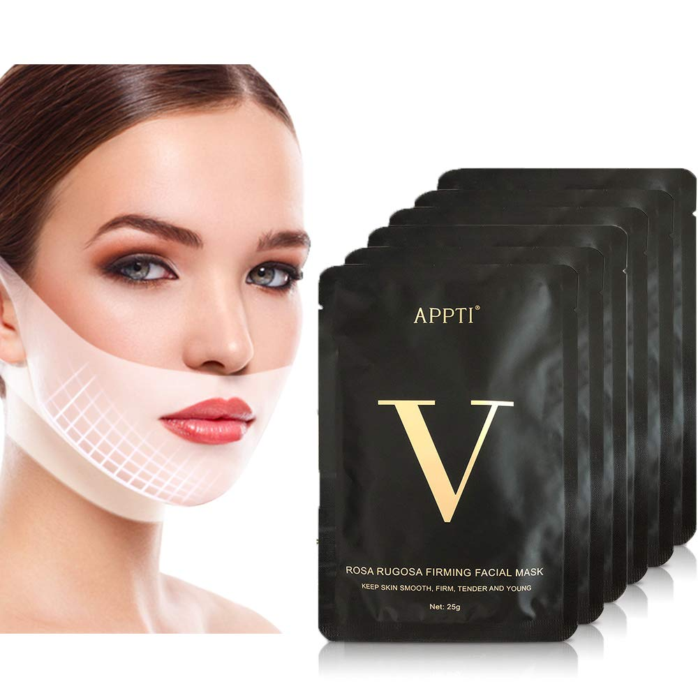 9Pcs Double Chin Reducer Strap Chin Face Slimming Strap V Line Lifting Mask Jawline Shaper Face Slimmer Lift Tape Mask Neck Tightening Band Belt