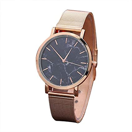 Big Windoson Women Quartz Watches Ladies Watches Womens Relojes Stainless Steel Female Watches (Rose Gold