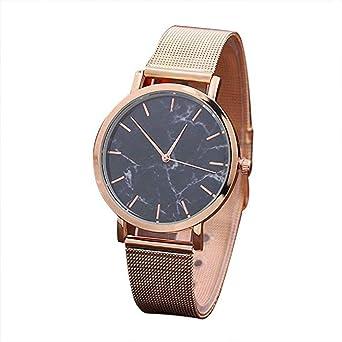 ... Liquidación Relojes para señoras Moda analógica Clásico Lujo Correa de Malla Relojes de Acero Inoxidable Relojes Femeninos (Oro Rosa): Amazon.es: ...