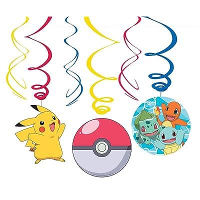 Amscan International Amscan 9904830 Decoration Foil Swirl 6 Pack Pokemon: Toys & Games