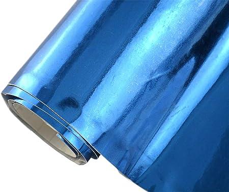 8 5 M Auto Folie Chrom Blau 30 X 152 Cm Blasenfrei Selbstklebend Flexibel Car Wrapping Auto
