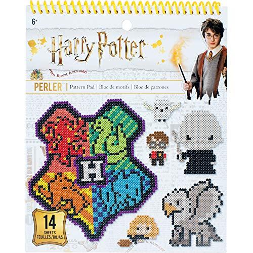 (Perler Beads Harry Potter Pattern Instruction Pad, 53 Patterns, Multicolor)