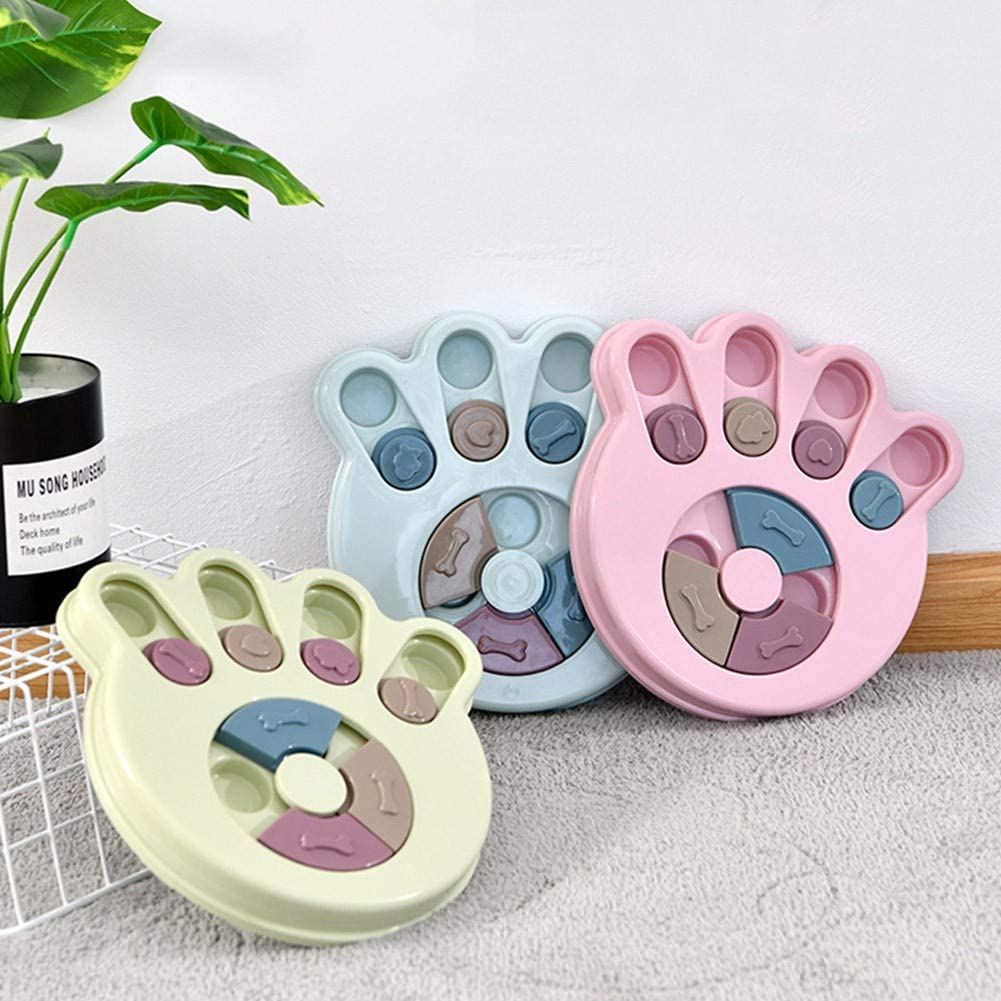 Puppy Treat Dispenser Interactive Dog Toys Dog Slow Feeding Disc Anti-choking Feeder Paw-shaped Gychee Dog Puzzle Toy