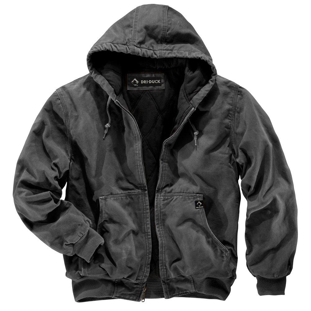 DRI Duck Men's 5020 Cheyenne Hooded Work Jacket, Charcoal, Large by DRI Duck
