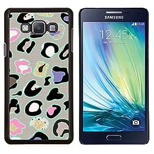 Eason Shop / Premium SLIM PC / Aliminium Casa Carcasa Funda Case Bandera Cover - Patrón de piel animal abstracto gris - For Samsung Galaxy A7 ( A7000 )