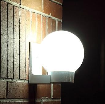 Lámpara LED solar lámpara solar jardín lámpara Ahorra energía solar Bombilla Blanco Blanco Cálido Resistente Al Agua Exterior Lámpara Foco de pared IP65 para Exterior Jardín empotrables para suelo: Amazon.es: Iluminación