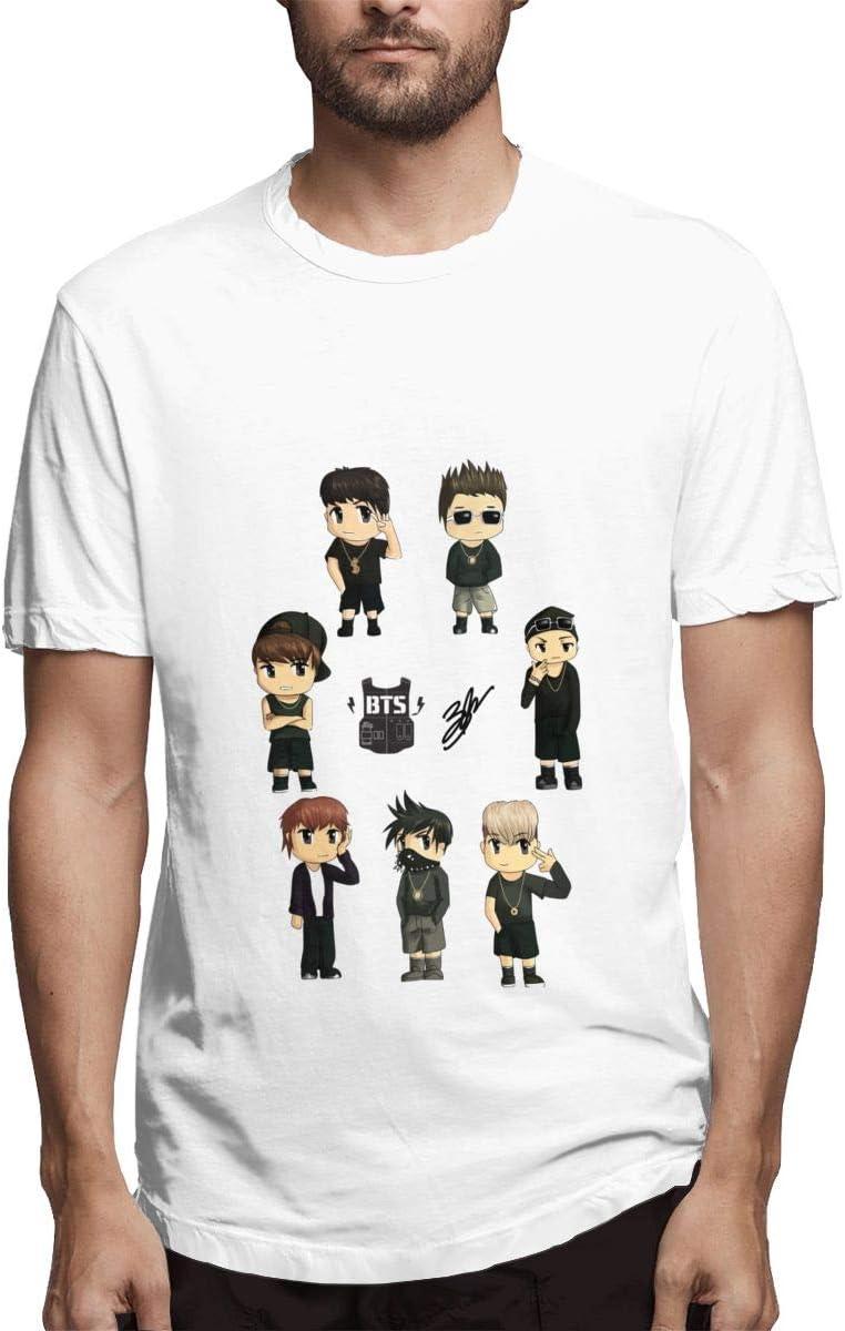 QINSHAONI Bulletproof Boy Scouts Teenagers Boy Retro Fashion Printed Letters Anime Pattern Comfortable Casual T-Shirt T-Shirts 5XL