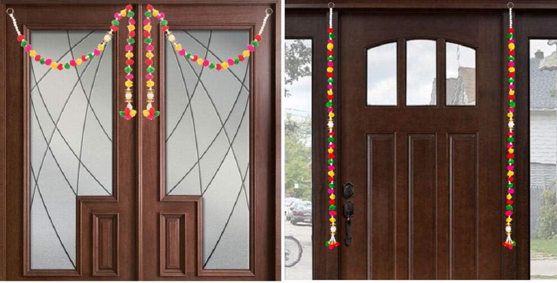 Devika:TORAN for Wide Doors OR Vertical TORAN(Set of 2Pcs).Novel Gift IDEA Decorate Your Door Gift a Toran Decor Toran Door Valance Home Decorations Gift Packing T5