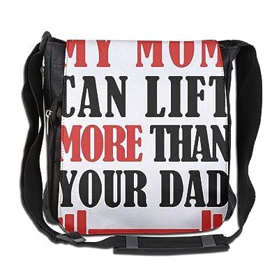 My Mom Can Lift More Than Your Dad Fashion Print Diagonal Single Shoulder Bag