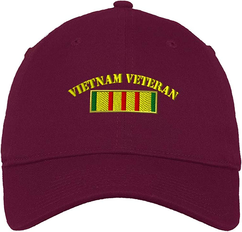 Custom Low/Profile/Soft Hat Vietnam Flag Embroidery Veteran Name Cotton Dad Hat