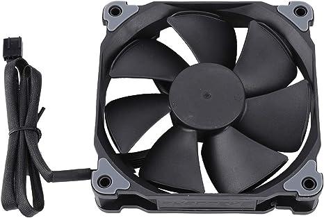 Ventilador de computadora de 120MP, ventilador de enfriamiento silencioso de alta presión de viento de 4 pines con 7 aspas de alta presión estática, ventilador PWM de ...
