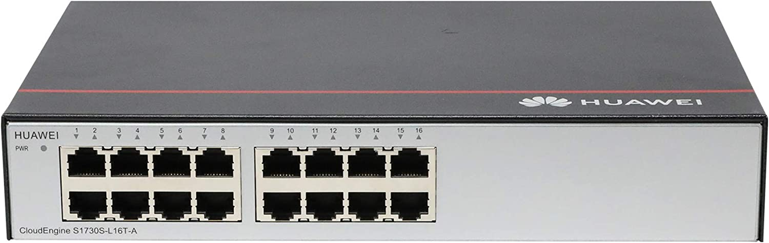 XWIFI S1730S-L16T-A Network Switch with 16 Port 10//100//1000 Base-T Gigabit Switch AC Power Supply