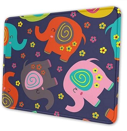 Alfombrilla De Ratón Para Juegos Elefantes Florale...
