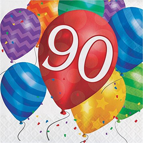 Balloon Blast 90th Birthday Napkins, 48 ct]()