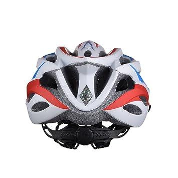 GWJ Casco De Bicicleta Luz De Seguridad, Casco De Ciclismo Deportivo con Certificación CE Cascos