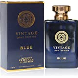 VINTAGE BLUE, 3.4 fl.oz. Eau de Parfum Spray for Men, Perfect Gift