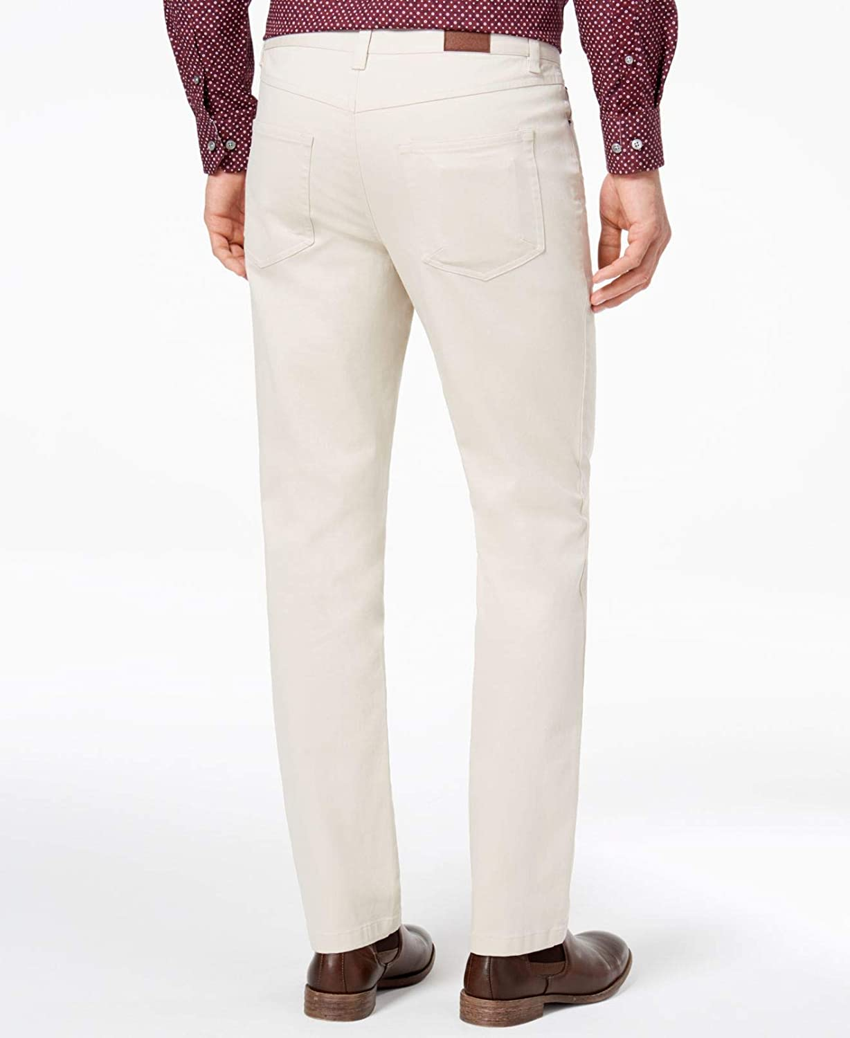 c1897367b Tasso Elba Mens 40X32 Vintage Solid Stretch Pants White Ivory 40 at Amazon  Men's Clothing store: