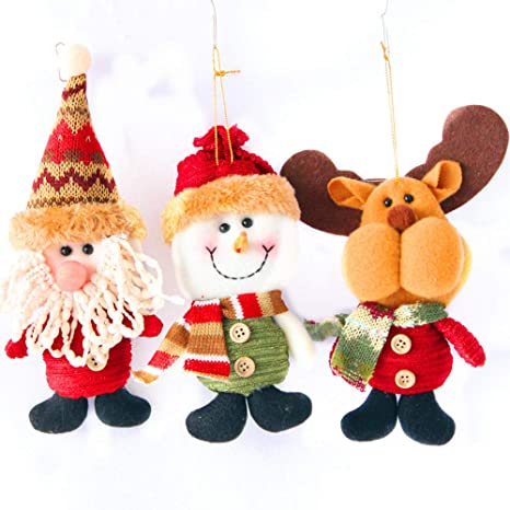A IGEMY Christmas Doll Merry Christmas Ornaments Santa Claus Snowman Tree Toy Doll Hang Decorations For Home Decor Doll