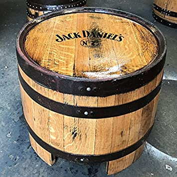 Recycled Solid Oak Jack Daniels Branded Whisky Barrel Coffee Table