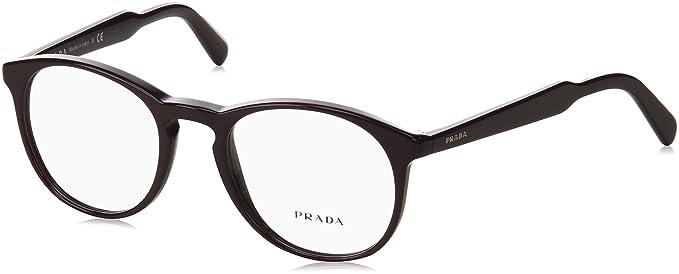 8c688b2cfb Prada PR19SV Eyeglass Frames USF1O1-50 - Brown PR19SV-USF1O1-50 at ...