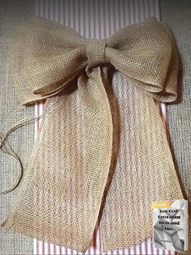 TEN BURLAP PEW BOWS Chair Venue Wedding Rustic Chic Primitive Wreath Country + free eBook by YourLuckyDecor
