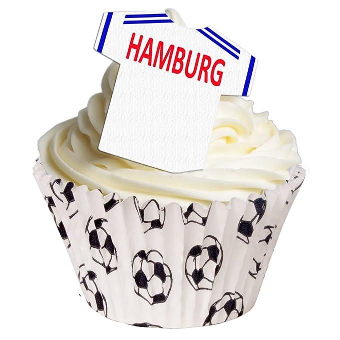 Edible personalised Football Paris Saint Germain round cake topper cupcake