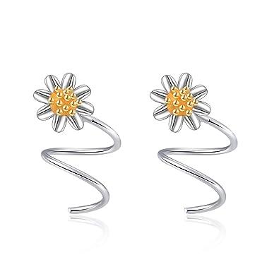 Stylish Womens Ear Cuff Earrings Silver Gold Leaf Climber Crawler Stud Earrings