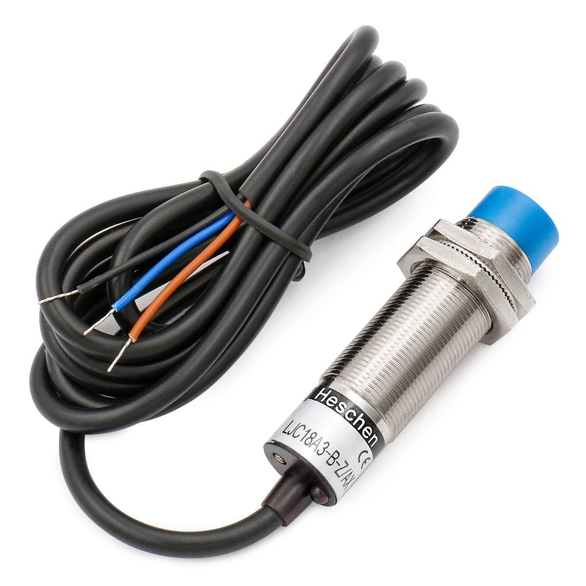 3 fili NO Heschen sensore di prossimit/à capacitivo interruttore LJC18A3-H-Z//BX rilevatore 10mm 6-36 VDC 300mA NPN normalmente aperto