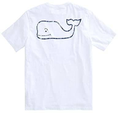 f69a742d Vineyard Vines Men's Vintage Whale Short-Sleeve Pocket Tee (X-Small, White