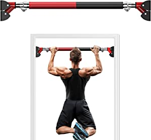 PERLECARE Pull Up Bar for Doorway, Strength Training Chin Up Bar No Screws, Workout Bar with Security Buckle and Anti-Slip Rubber Pad, Suitable for Home Exercise Hold up to 660 LBS Extend to 36 inch