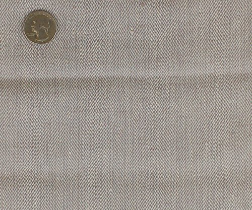 Mini Herringbone Stretch Linen Fabric GREY/WHITE / 2 YARD BOLT