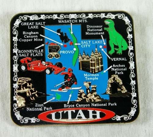 Utah State MAGNET Souvenir Gift Salt Lake City Mormon Temple