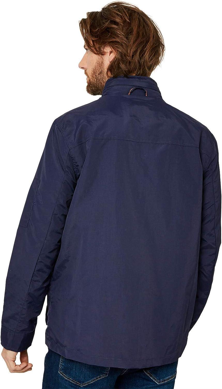 Joe Browns Homme Manteau Léger Imperméable avec Capuche Dissimulée Bleu