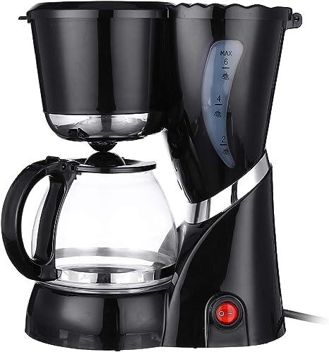 ZUN Máquina de cafetera eléctrica de 550 vatios Máquina 600 ml 4-6 ...