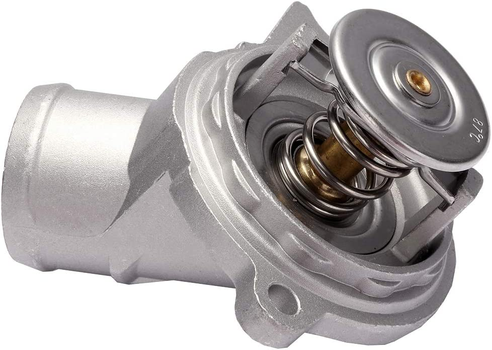 AUTOMUTO 1122030275 Engine Coolant Housing Fit for 2001-2005 Mercedes-Benz C240, 2005-2006 Mercedes-Benz C55 AMG,2006 Mercedes-Benz CLS500 Thermostat Housing Kit Assembly