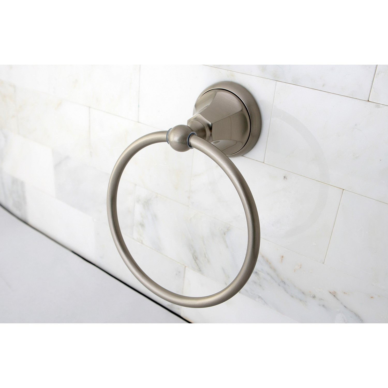 Polished Chrome Kingston Brass BA4814C Metropolitan Towel Ring