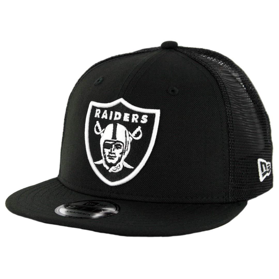 brand new 38105 71270 Amazon.com   New Era 950 Oakland Raiders Trucker Snapback Hat (Black White)  Men s NFL Cap   Sports   Outdoors