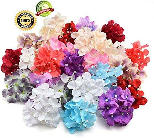 Amazon Com Silk Flowers In Bulk Wholesale Silk Hydrangea Heads