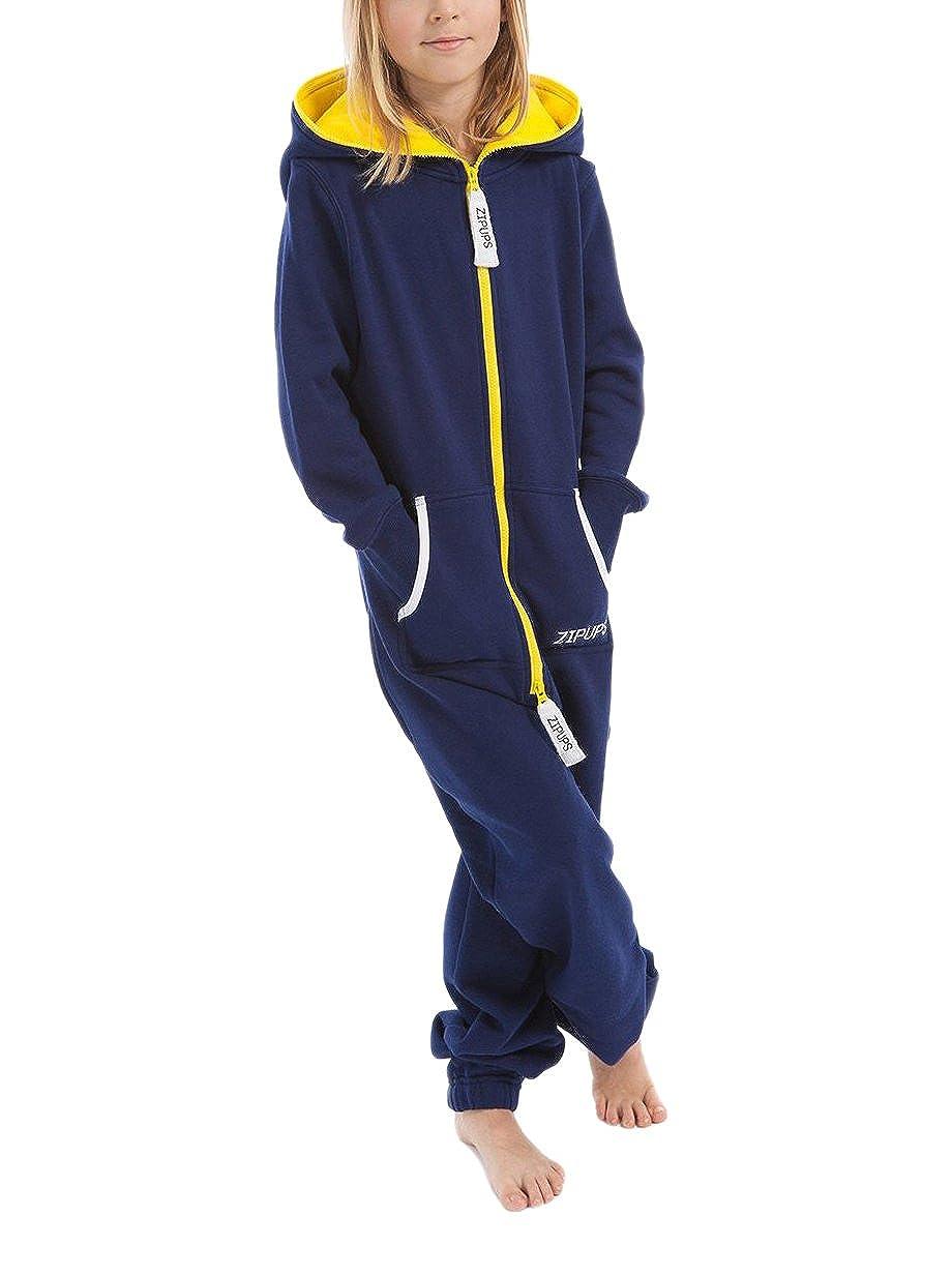Zipups Mono-Pijama Neon Azul/Amarillo 10-11 años (140/146 cm): Amazon.es: Ropa y accesorios