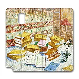 Vincent Van Gogh Design Leather Case for Samsung Note 4 Books