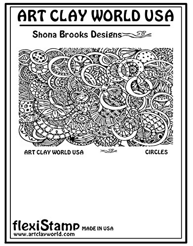 FlexiStamps Texture Sheet Shona Brooks Circles Positive Design - 1 pc. by FlexiStamp